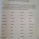 big list of feelings